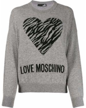 Топ с леопардовым принтом Love Moschino