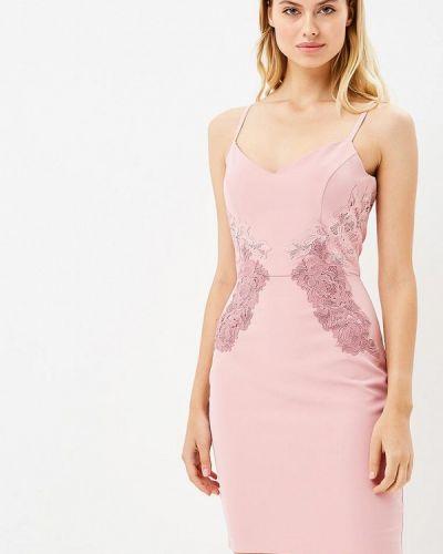 Розовое платье осеннее Love Republic