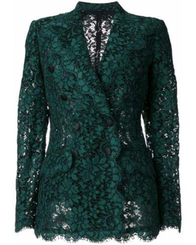 Двубортный пиджак льняной Dolce & Gabbana