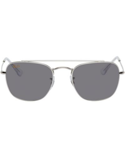 Черные солнцезащитные очки прозрачные квадратные Ray-ban