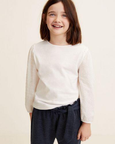 Блуза однотонная трикотажная Mango Kids