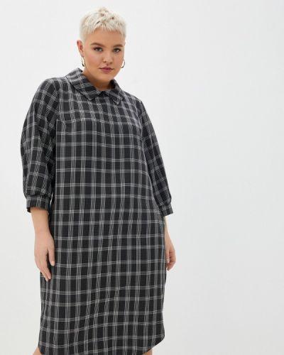 Повседневное серое платье Intikoma