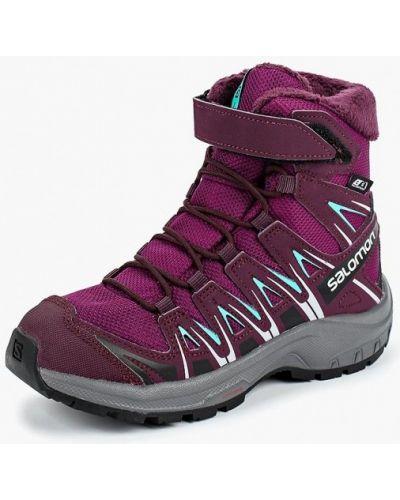 Ботинки фиолетовый трекинговый Salomon