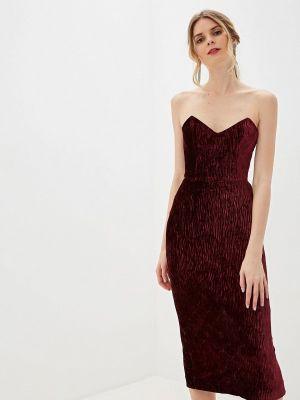 Вечернее платье бордовый осеннее Ruxara