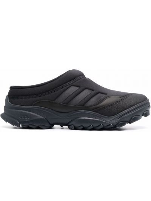 Кожаные черные мюли круглые Adidas