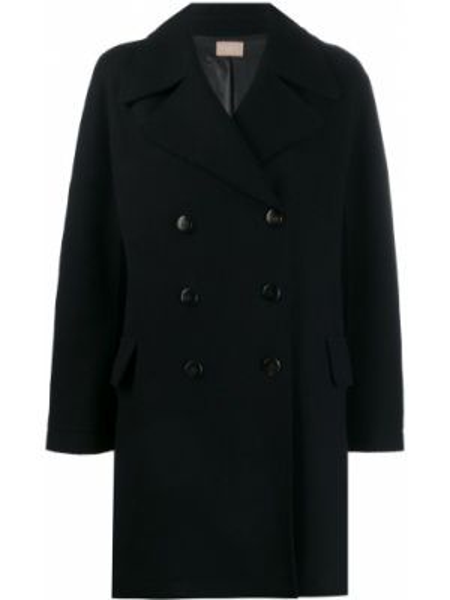 Терракотовое шерстяное укороченное пальто свободного кроя винтажное Alaïa Pre-owned