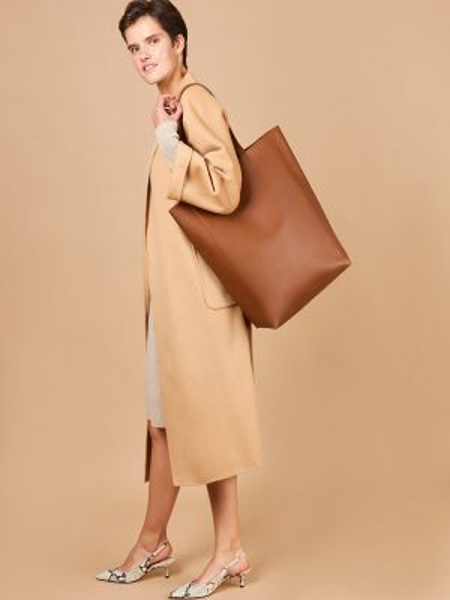 Кожаная сумка шоппер 12storeez