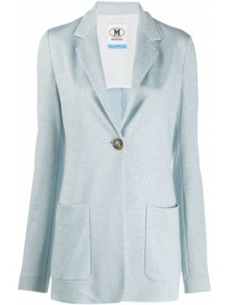 Приталенный синий пиджак с карманами M Missoni
