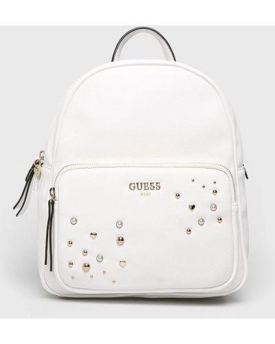 Рюкзак кожаный белый Guess Jeans