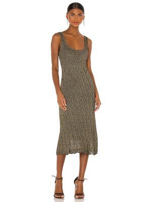 Черное платье с подкладкой металлическое Misa Los Angeles