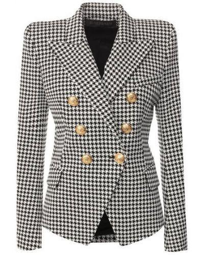 Трикотажный пиджак - белый Balmain