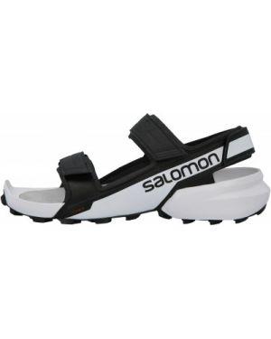 Спортивные черные кожаные сандалии туристические Salomon