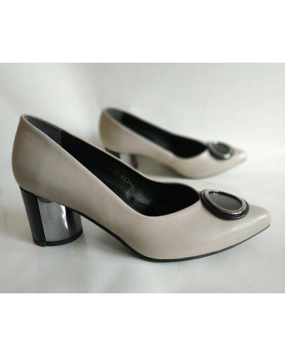 Кожаные туфли - бежевые Aspena