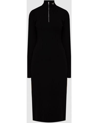 Черное платье футляр Prada