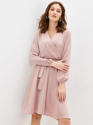 Прямое розовое платье А-силуэта Moki