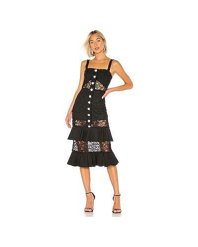 Вечернее платье со складками на кнопках Alexis