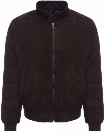 Коричневая кожаная куртка Moreschi