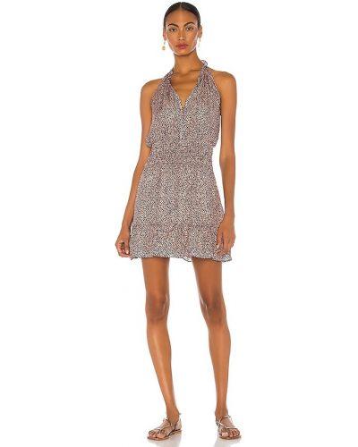 Шелковое платье - синее Parker