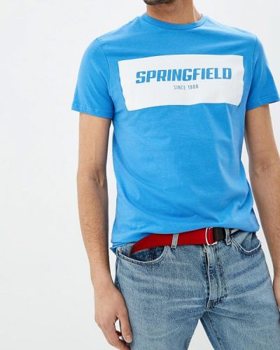 Футболка синий Springfield
