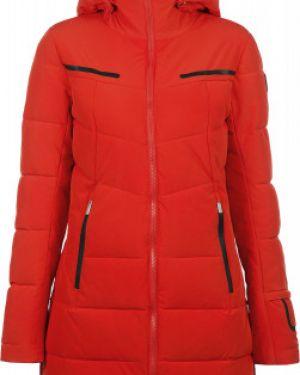 Приталенная красная куртка с капюшоном мембранная на молнии Icepeak