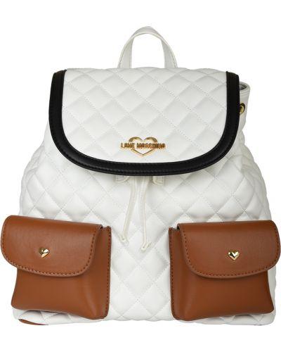 Рюкзак белый Love Moschino