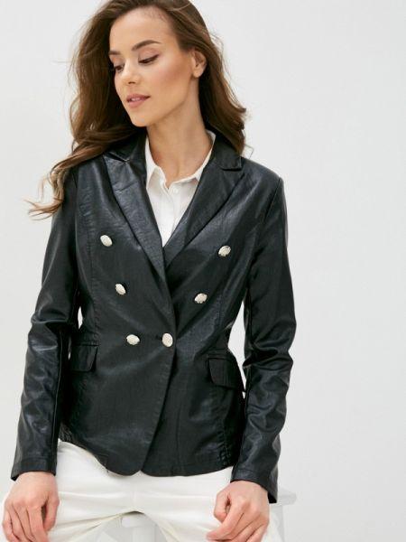 Черная кожаная куртка B.style