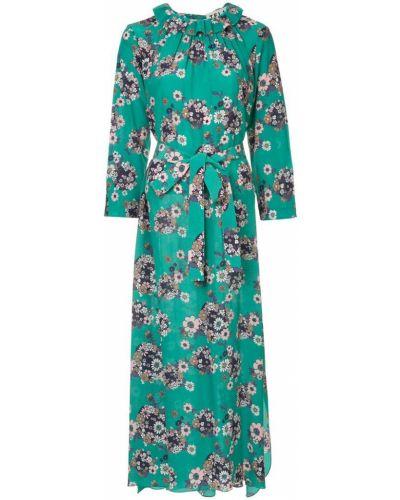 Платье шелковое с цветочным принтом Teija