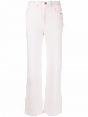 Biały garnitur z paskiem bawełniany Barrie