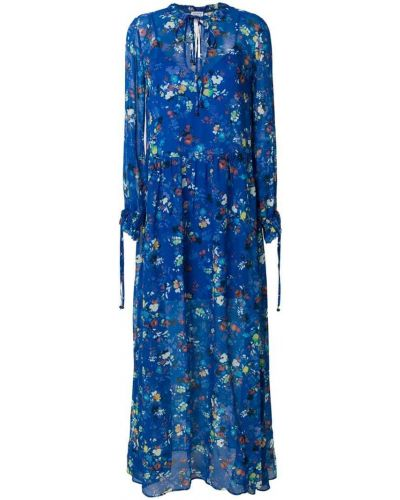 Платье с цветочным принтом солнце с длинными рукавами Twin-set