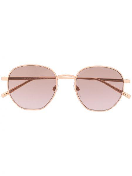 Золотистые желтые солнцезащитные очки круглые металлические Marc Jacobs Eyewear