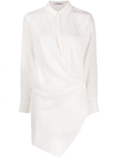 Biała klasyczna koszula z długimi rękawami z paskiem Dorothee Schumacher