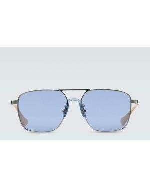 Серебряные солнцезащитные очки квадратные с завязками Gucci