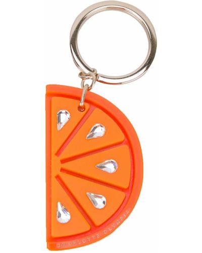 Оранжевый брелок Charlotte Olympia