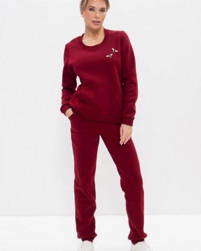 Костюмный красный спортивный костюм Cleo