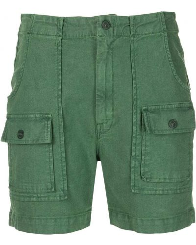 Хлопковые зеленые шорты с карманами на шпильке Mother