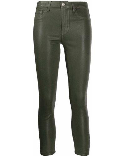 Облегающие зауженные джинсы - зеленые L'agence