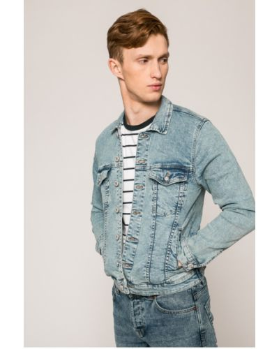 Джинсовая куртка на пуговицах Only & Sons