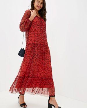 Платье прямое красный Vera Moni