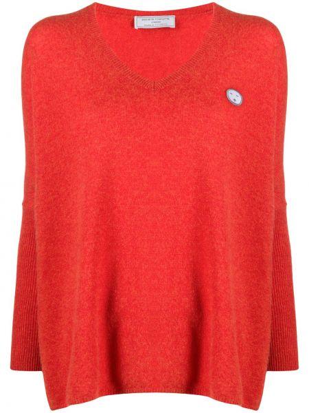 Кашемировый красный длинный свитер с вырезом SociÉtÉ Anonyme