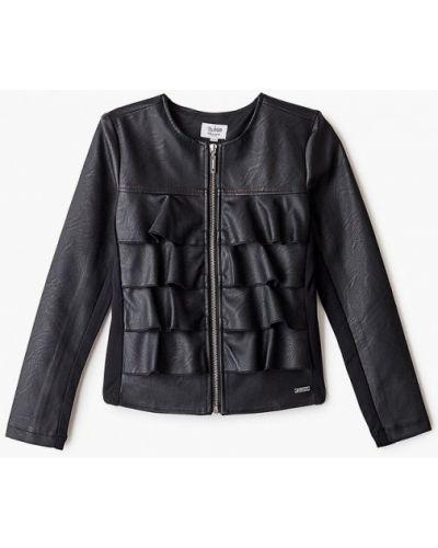 Облегченная кожаная черная куртка Blukids