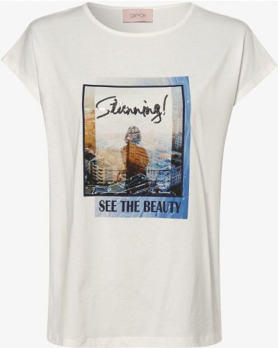 T-shirt z cekinami - niebieska Cartoon Upgreat!