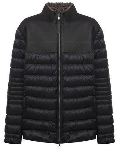 Комбинированная кожаная куртка с подкладкой Bogner