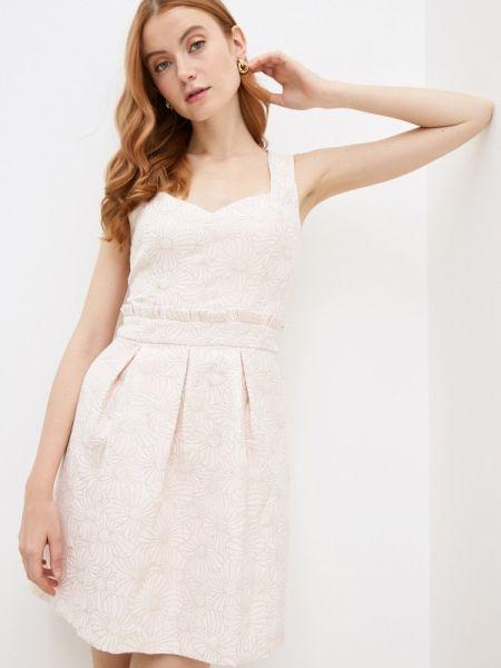 Вечернее платье розовое весеннее Naf Naf