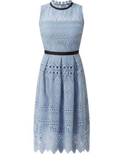 Sukienka koronkowa - niebieska Swing