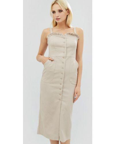 Платье миди весеннее бежевое Cardo