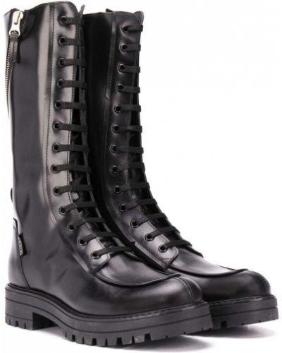 Черные сапоги на шнурках Cinzia Araia Kids