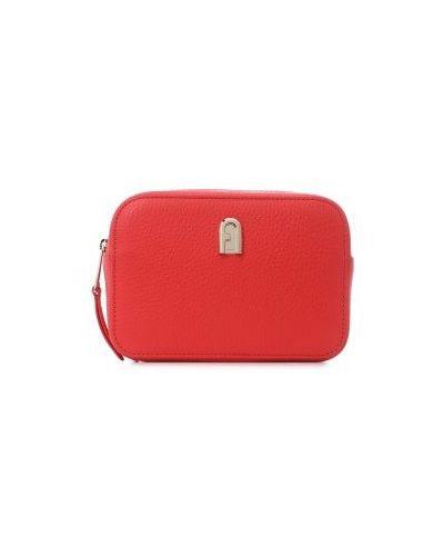 Красный ремень с поясом Furla