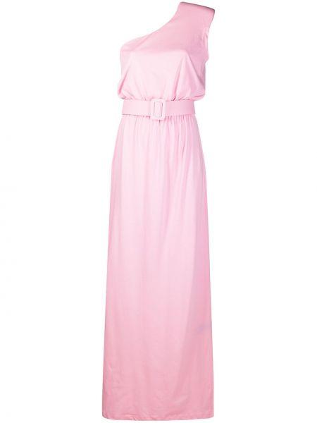 Хлопковое розовое платье макси без рукавов Federica Tosi