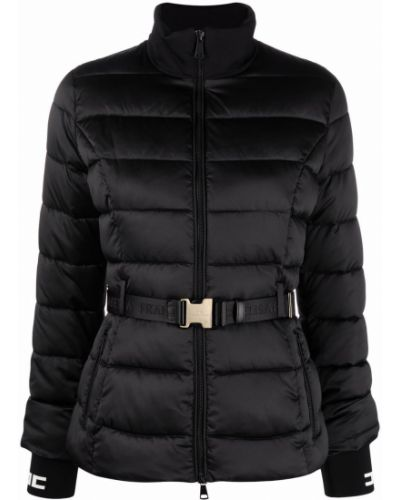 Длинная куртка - черная Elisabetta Franchi