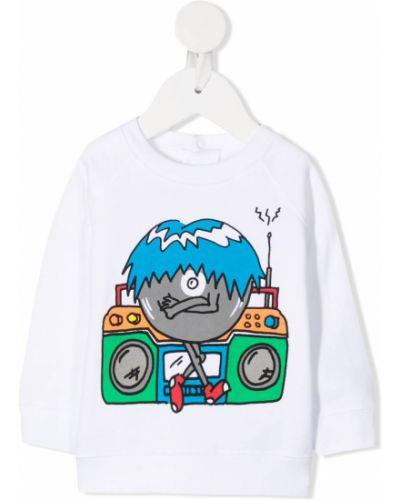 Bluza z długimi rękawami bawełniana z printem Stella Mccartney Kids